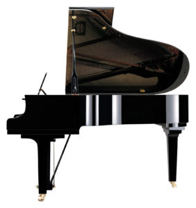 Yamaha C3X grand piano, side view